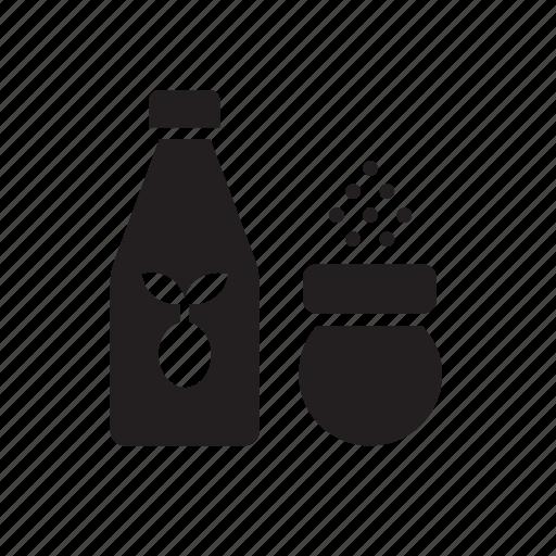 bottle, food, oil, olive, salt, shaker icon
