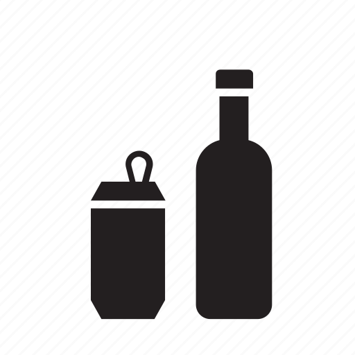 beverage, bottle, can, drink, drinking, glass icon