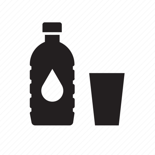 beverage, bottle, drink, drinking, glass, water icon