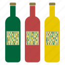 bottle, container, drink, label, packaging, wine, winery icon