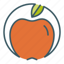 apple, circle, eat, fruit, healthy food icon