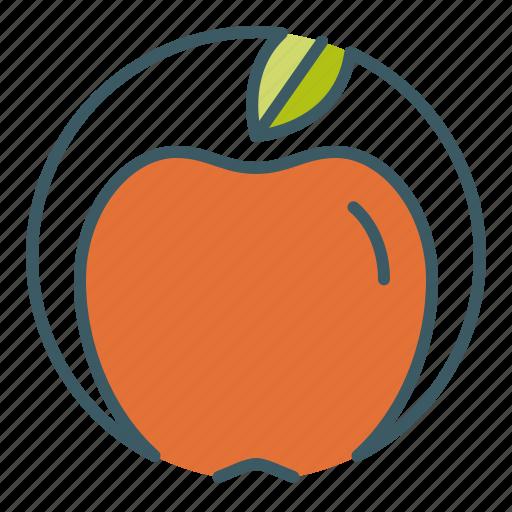 apple, circle, eat, fruit, healthy food icon