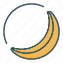 banana, circle, eat, food, healthy food icon