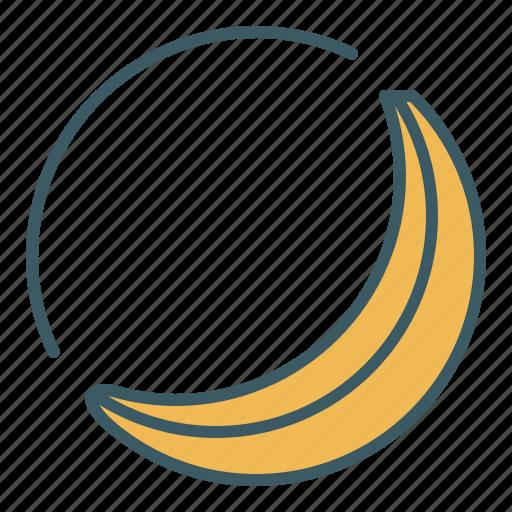banana, circle, eat, food, healthy food icon