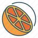 citrus, cut, fruit, healthy food, lemon, orange, slice icon