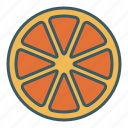 citrus, fruit, lemon, orange, slice icon