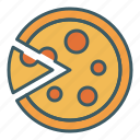 cut, eat, food, pizza, slice icon