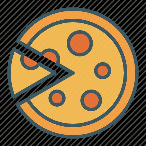 cut, eat, food, pizza, slice icon