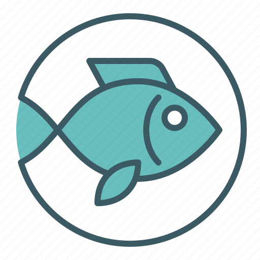 circle, fish, marine, seafood icon