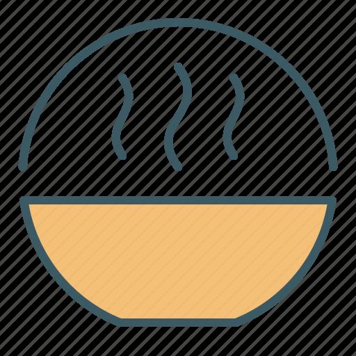 bowl, circle, cooking, eat, food, soup icon