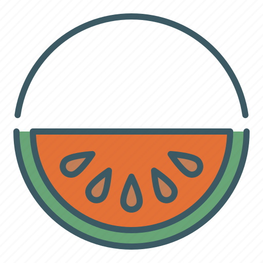 circle, eat, fruit, healthy food, watermelon icon