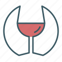 alcohol, circle, drink, glass, wine icon