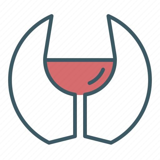 Alcohol, circle, drink, glass, wine icon - Download on Iconfinder