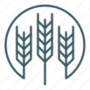 agriculture, barley, crops, farm, farming, harvest, wheat icon