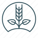crops, farm, farming, grow, seed, sprout icon