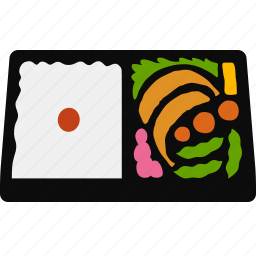 bento, box, cuisine, japanese, lunch, lunchbox, meal icon