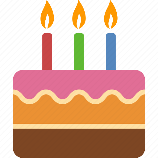 anniversary, birthday, cake, candles, celebration, dessert, party icon