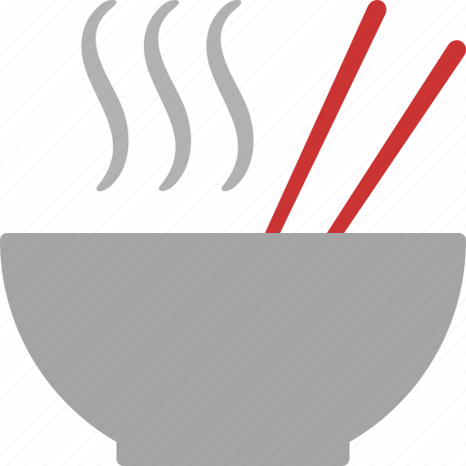 asian, bowl, chopsticks, food, hot, noodle, pho icon