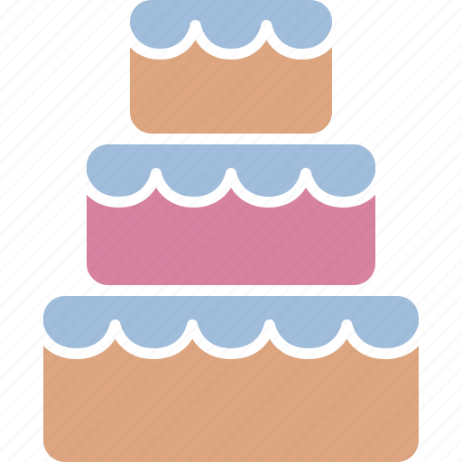 Cake Dessert Reception Stacked Sweet Traditional Wedding Icon