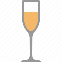 alcohol, bar, champagne, flute, glass, sparkling, wine icon