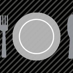 dining, dinner, eat, eating, restaurant, setting, table icon