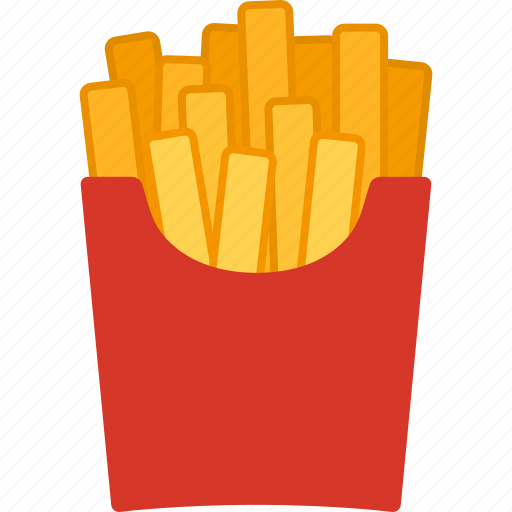 fast, food, french, fried, fries, potato, unhealthy icon
