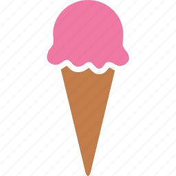 cone, cream, dessert, gelato, ice, icecream, scoop icon