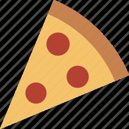 cheese, fast, food, italian, pepperoni, pizza, slice icon