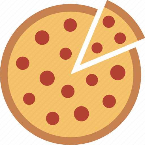 fast, food, pepperoni, pie, pizza, slice, whole icon
