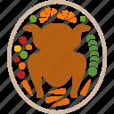 turkey, plate, food, vegetables, thanksgiving, dinner, meal