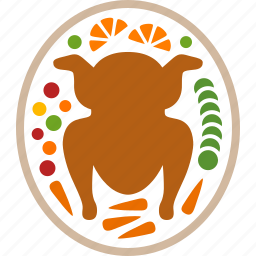 dinner, food, meal, plate, thanksgiving, turkey, vegetables icon