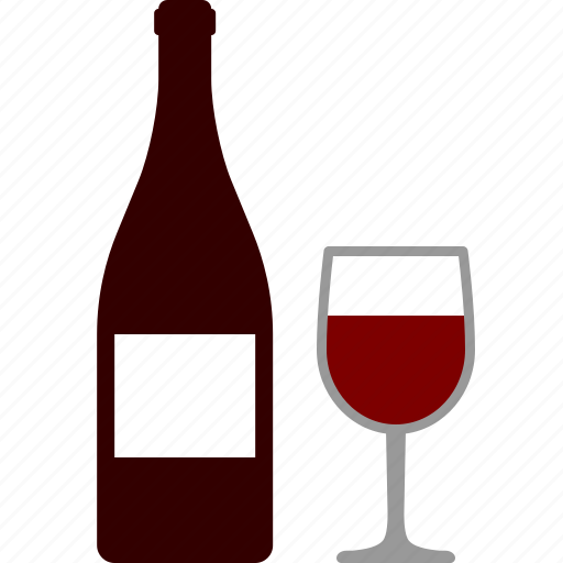 alcohol, bar, bottle, glass, red, tasting, wine icon