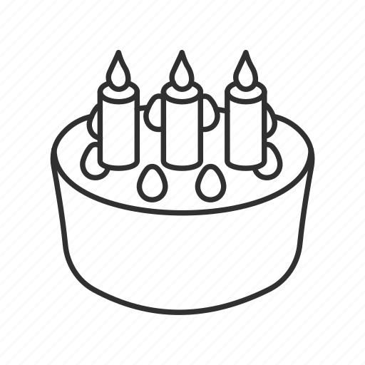 Birthday Cake With Candles Toppings Emoji Gift Icon