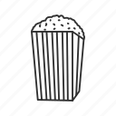 corn, food, kernel, movie, movie snacks, popcorn, snacks icon