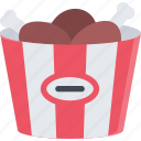 barbecue, breaded, chicken, drink, food, store, supermarket icon