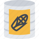 barbecue, canned, corn, drink, food, store, supermarket icon