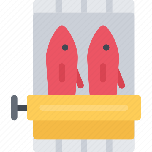 barbecue, canned, drink, fish, food, store, supermarket icon