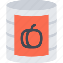 barbecue, canned, drink, food, peach, store, supermarket icon