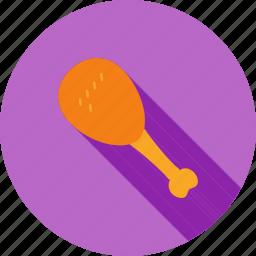 chicken, diet, dinner, food, leg piece, restaurant, roast icon