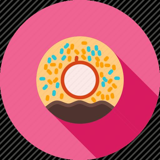 baked, cafe, dessert, donut, doughnut, sprinkles, sweet icon