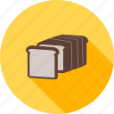 baked, bakery, bread, breakfast, sandwich, slice, toast icon