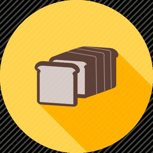 baked, bakery, bread, breakfast, sandwich, slice, toast icon