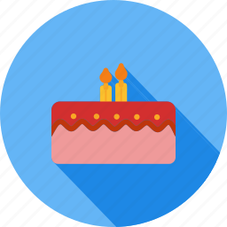 baked, bakery, birthday, cake, candles, dessert, sweet icon