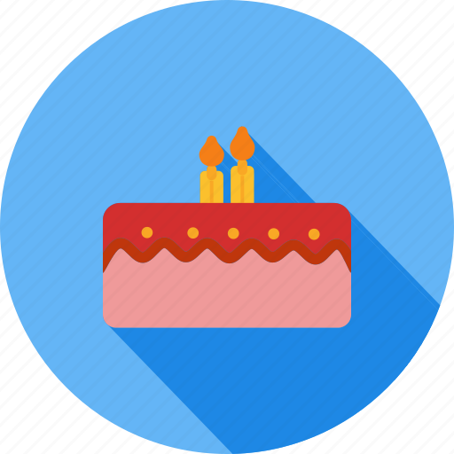 Baked Bakery Birthday Cake Candles Dessert Sweet Icon