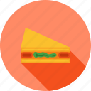 bread, breakfast, food, meal, sandwich, slice, snack icon