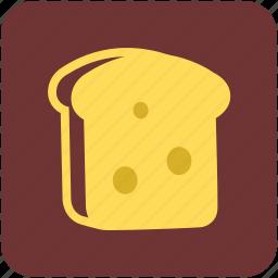 bread, bread slice, breakfast, sandwich, toast icon