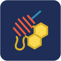 bee honey, honey, honey dipper, honey wax, sweet food icon