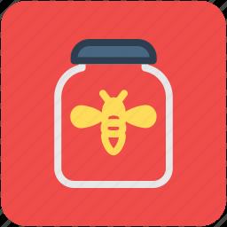 bee honey, honey, honey jar, honey wax, sweet food icon