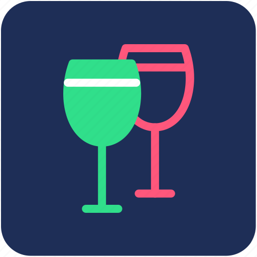 alcohol, cocktail, drink, wine, wine glasses icon