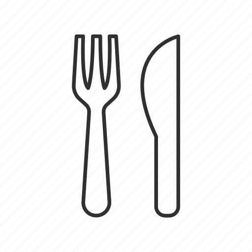 breakfast, dinner, eat, food, kitchen utensil, lunch, spoon and fork icon